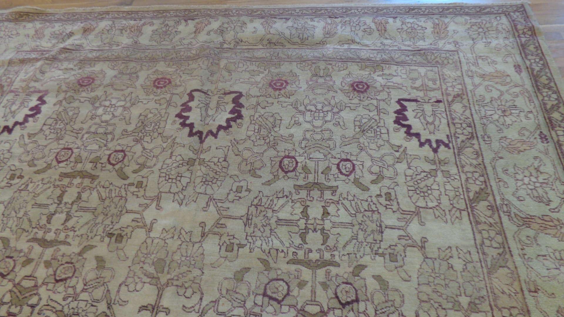 24753 indian agra rug 9.9x13.9-1
