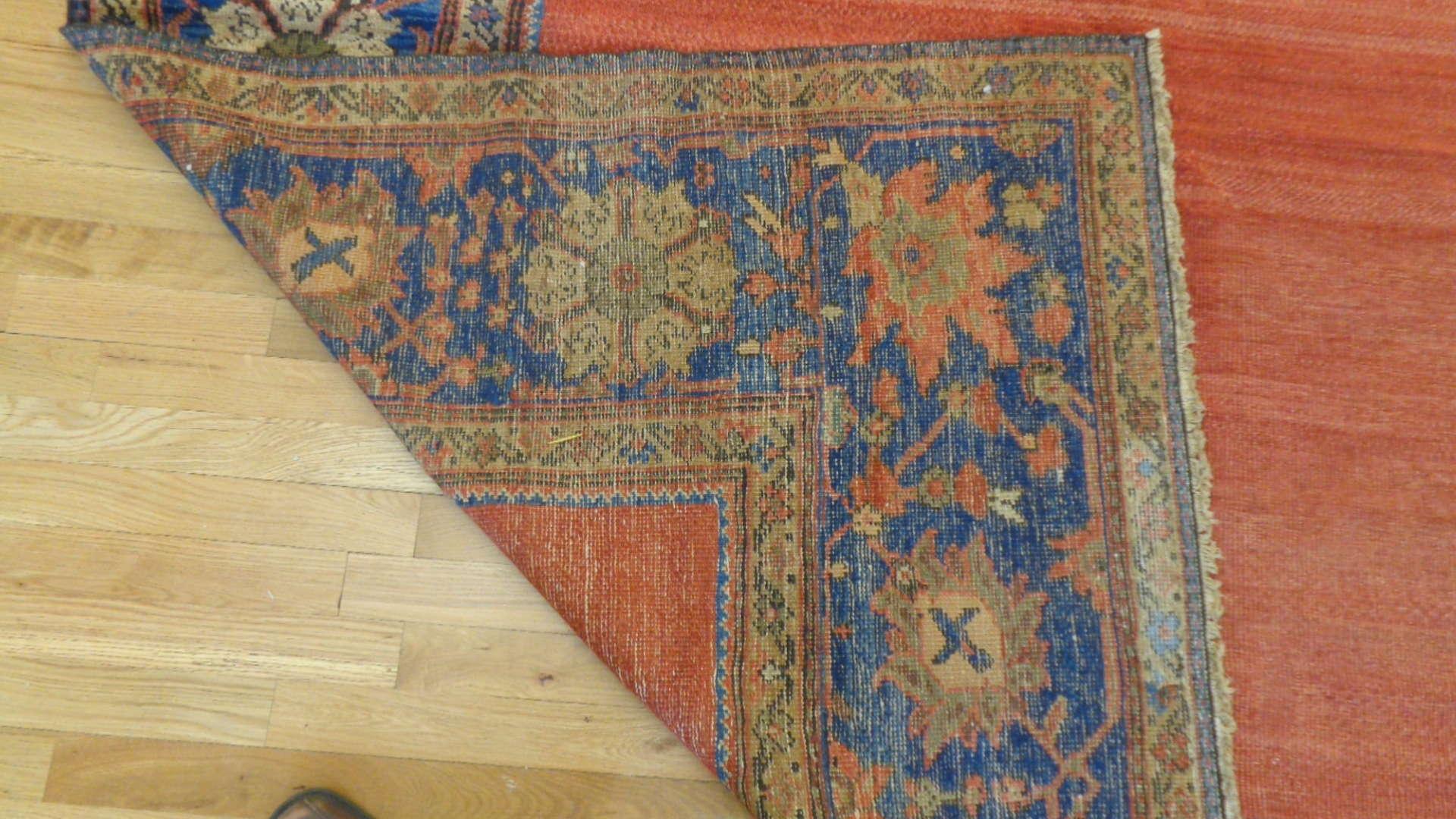 24760 antique persian mahal rug 9,11x13,6-3