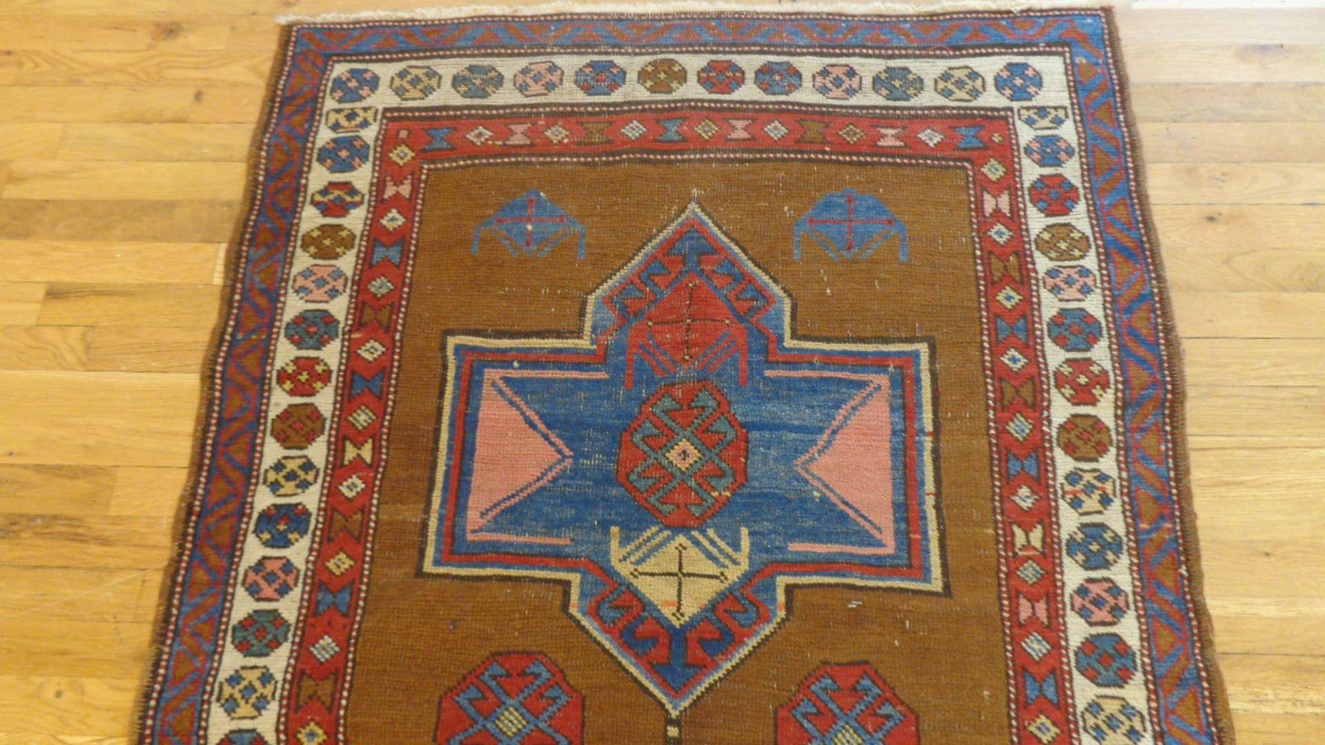 24766 antique northwest persian hall runner 3.8x11-1