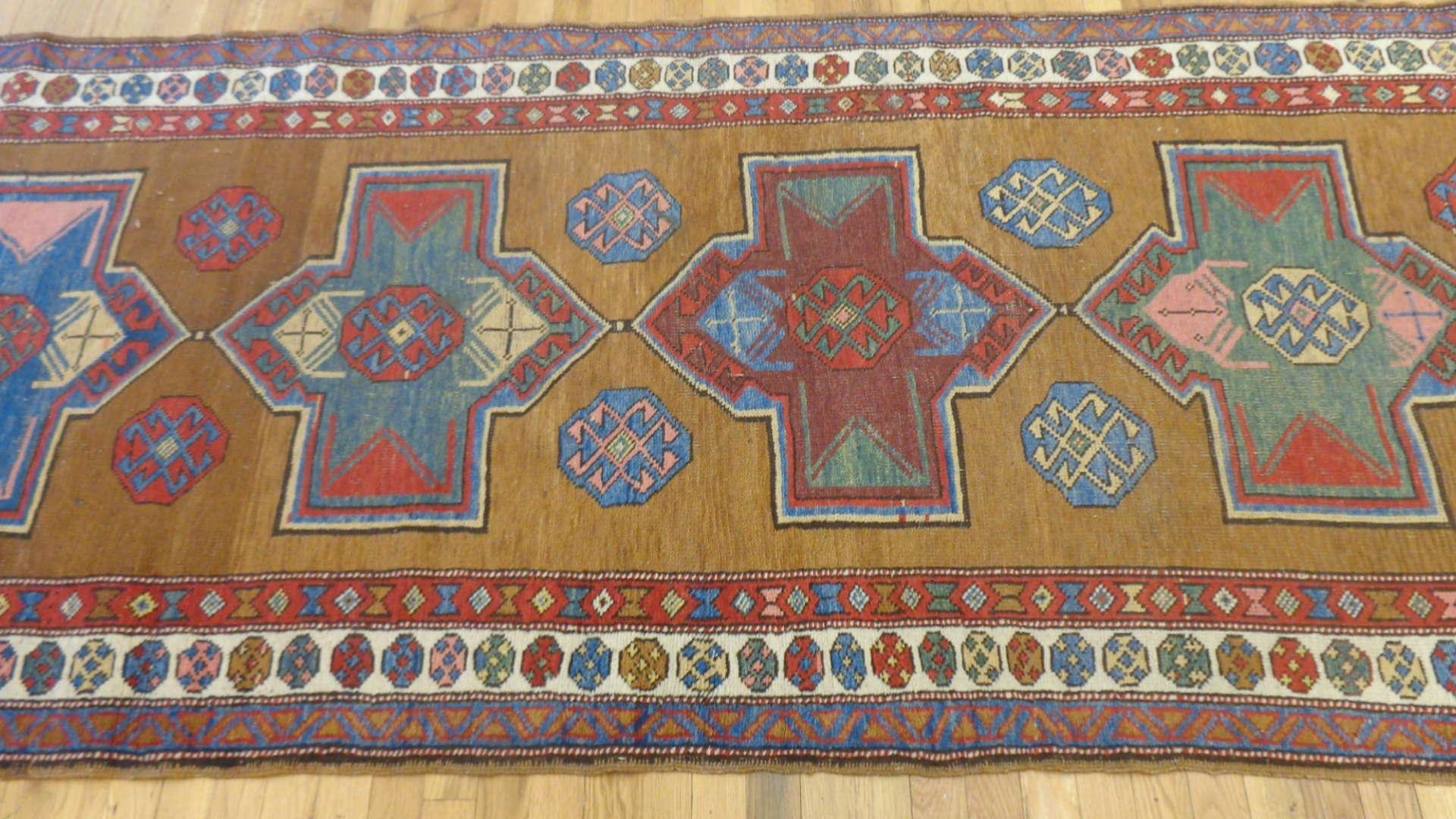 24766 antique northwest persian hall runner 3.8x11-2