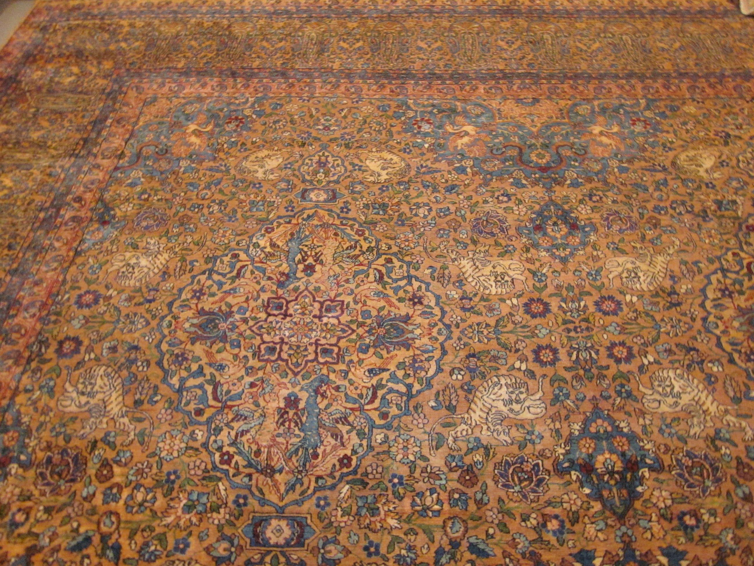24774 Persian Kirman carpet 13,6 x 17-1