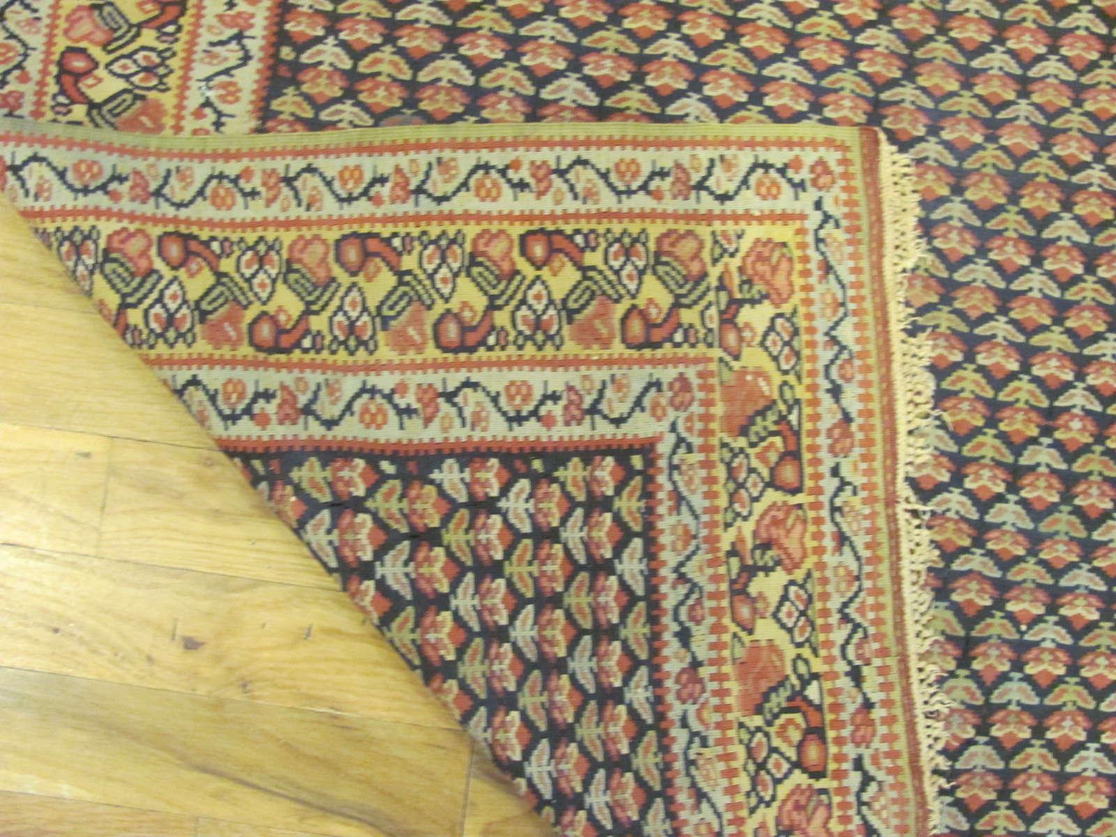 24776 persian senneh kilim rug 3,6 x 4,10-3