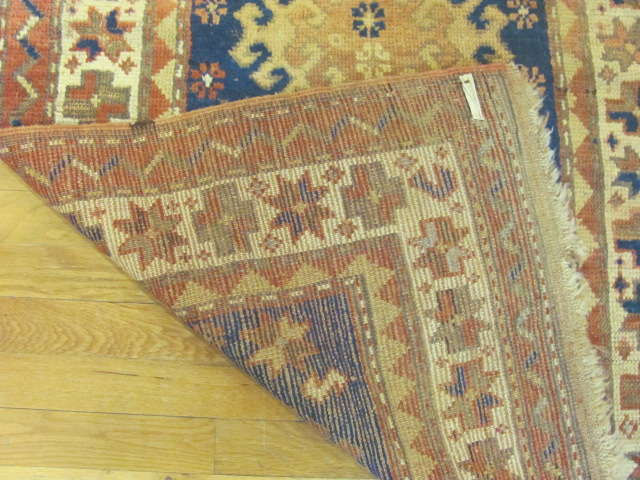 24806 antique caucasian kazak rug 2,10x4,5-2