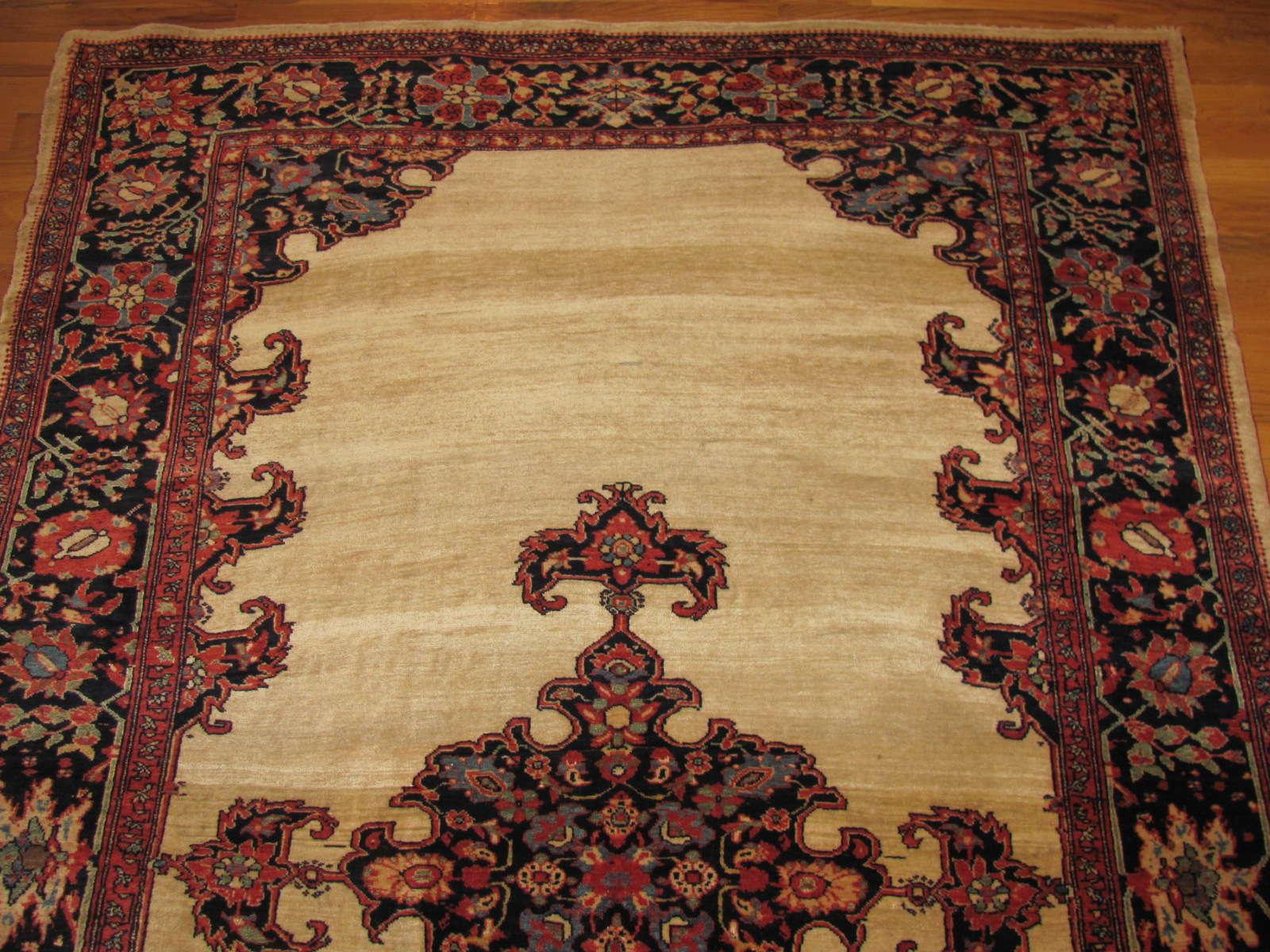 24837 antique persian sarouk fereghan rug 4,7x7,1-1