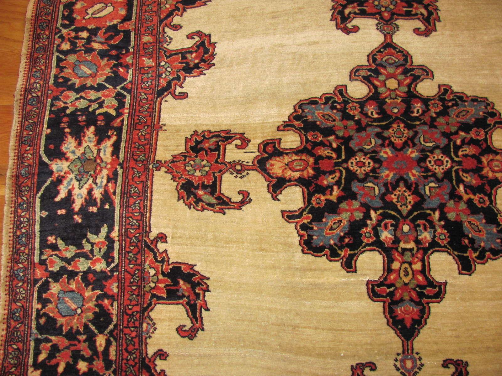 24837 antique persian sarouk fereghan rug 4,7x7,1-2