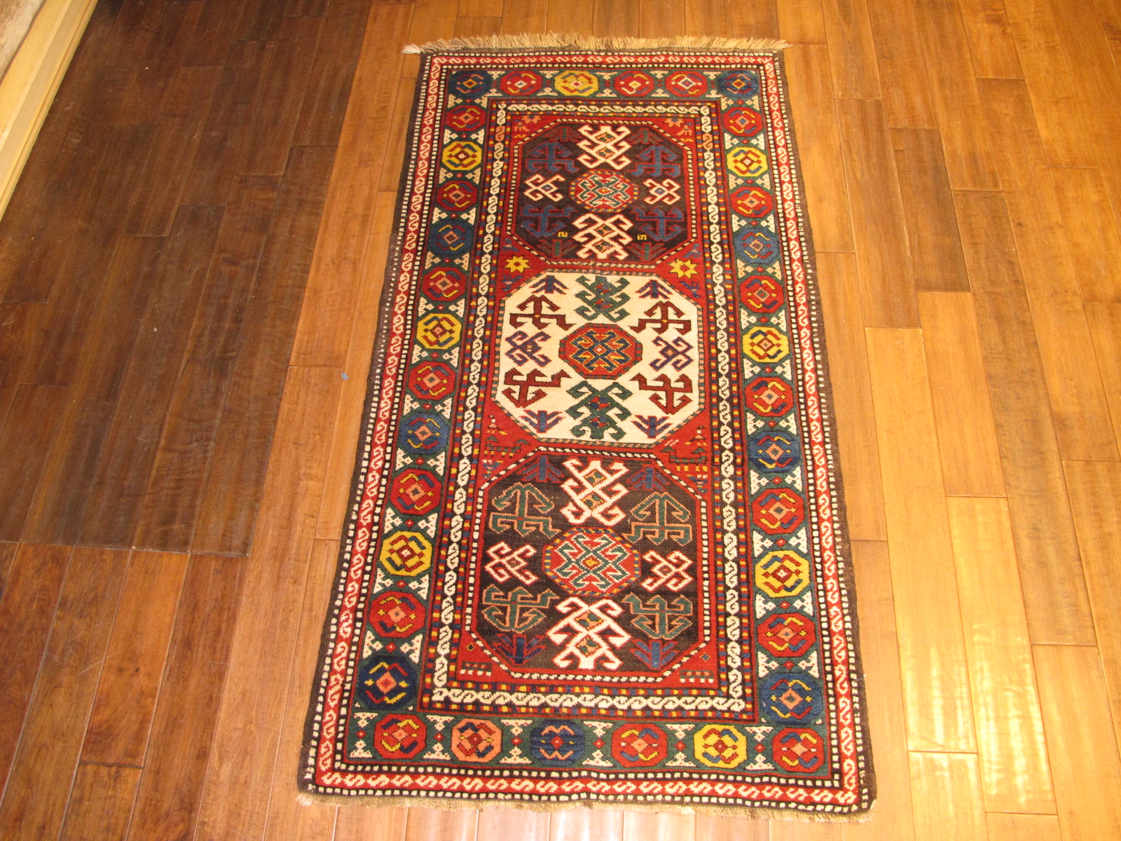 Kazak Rug | Caucasus | Antique, C. 1900