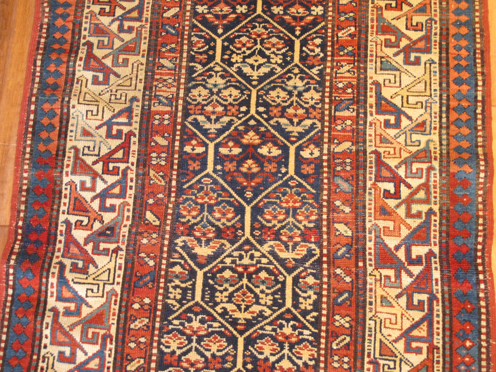 23201 antique caucasian shirvan runner 3,2 x 10,3 (2)