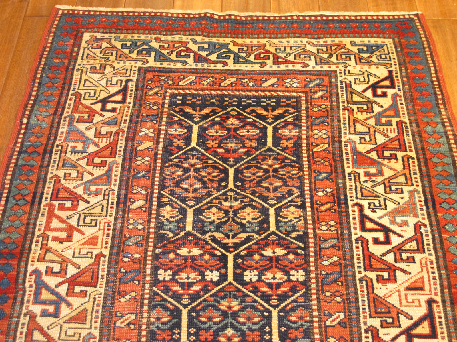 23201 antique caucasian shirvan runner 3,2 x 10,3 (3)