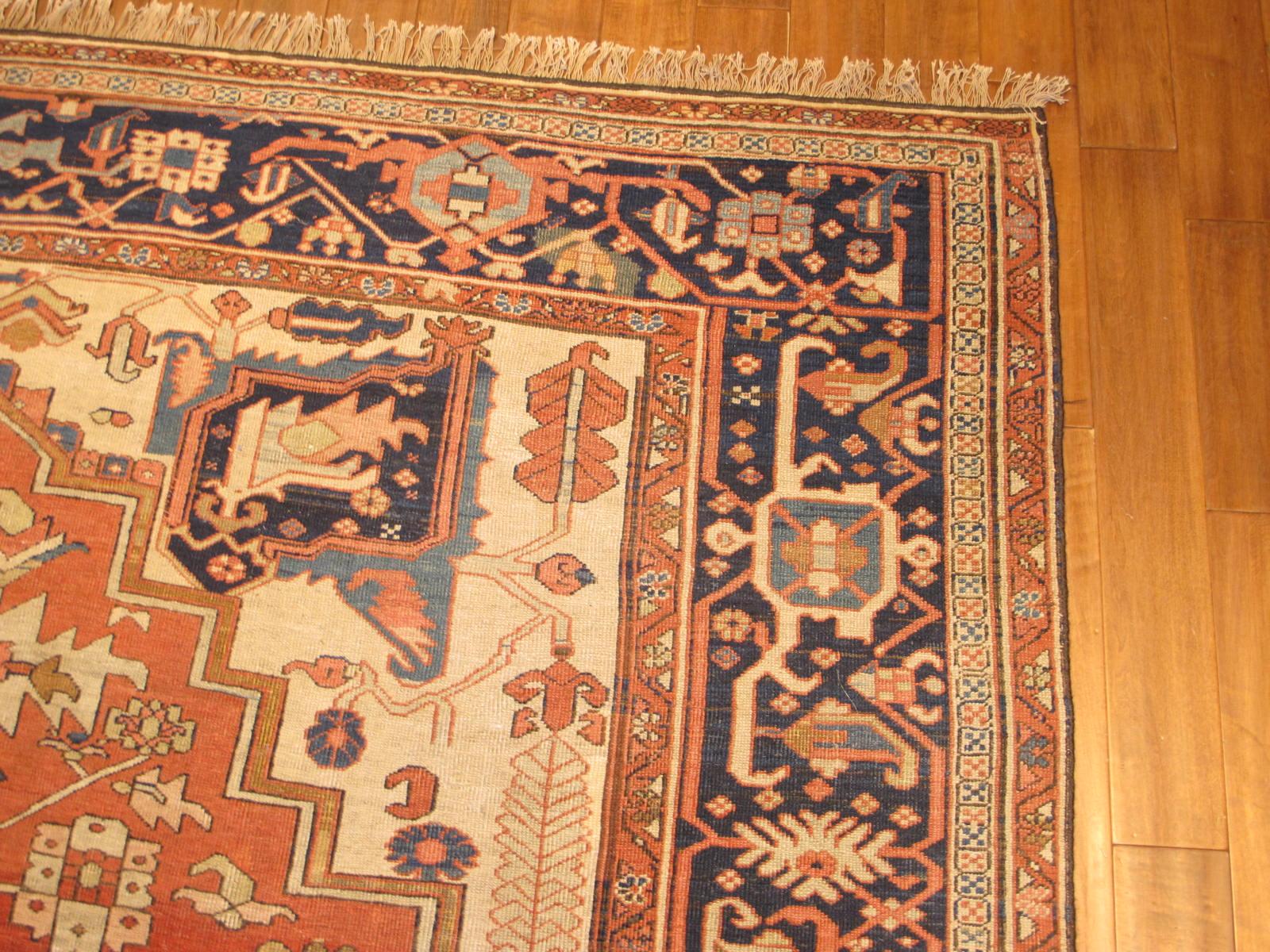 23203 antique persian serapi carpet 9,10 x 14 (2)