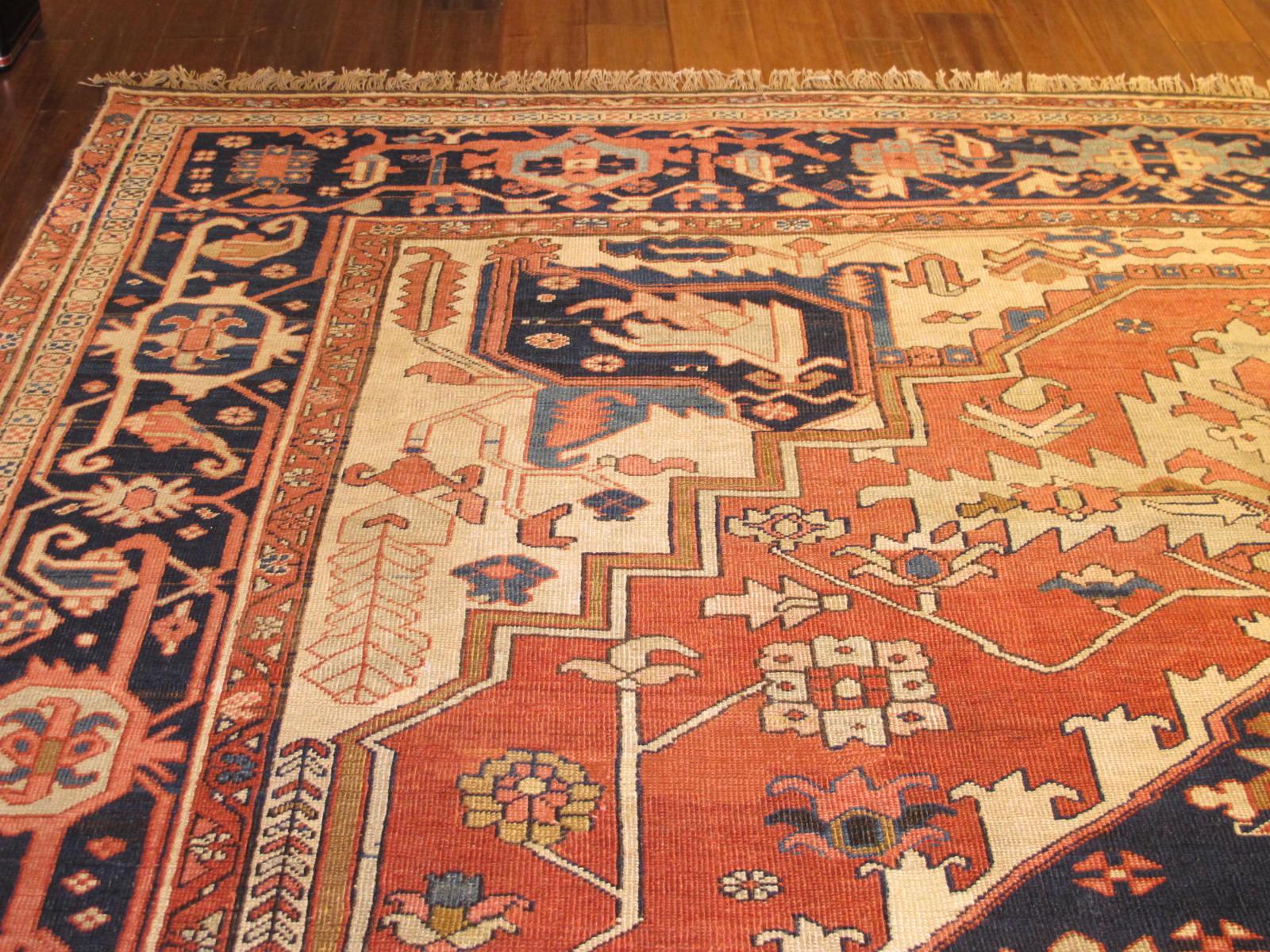 23203 antique persian serapi carpet 9,10 x 14 (4)