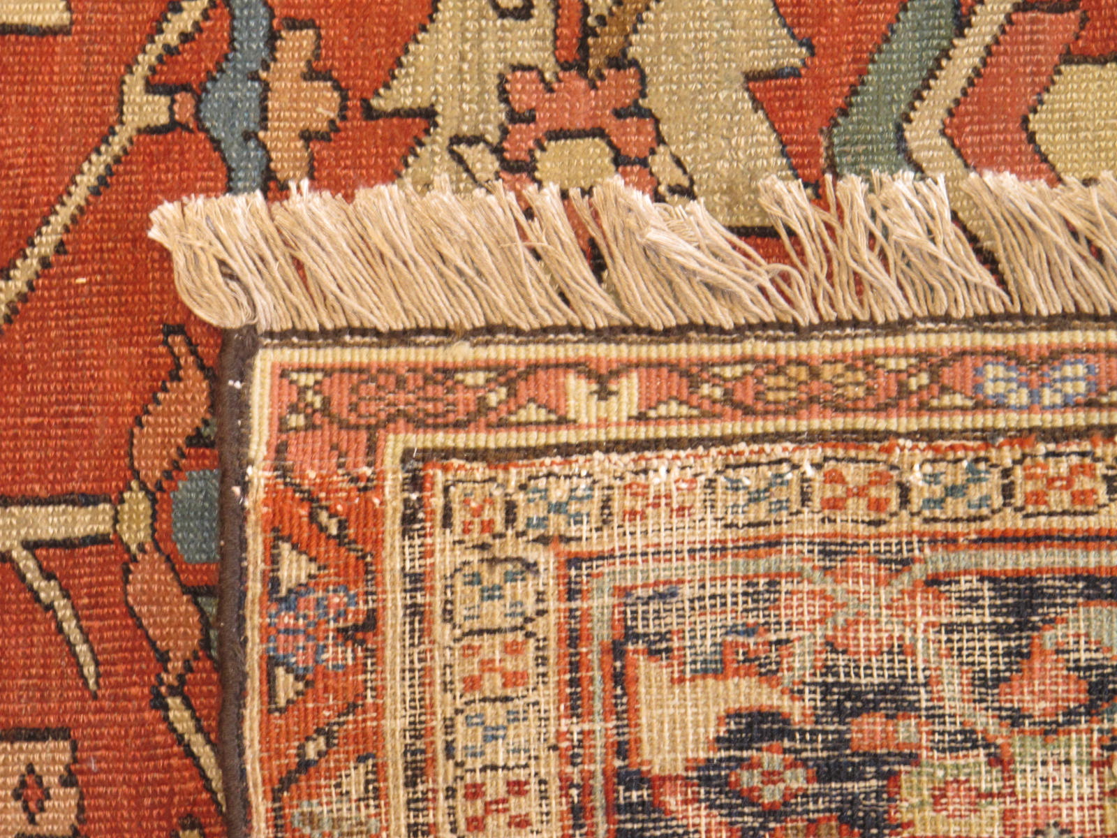23203 antique persian serapi carpet 9,10 x 14 (5)