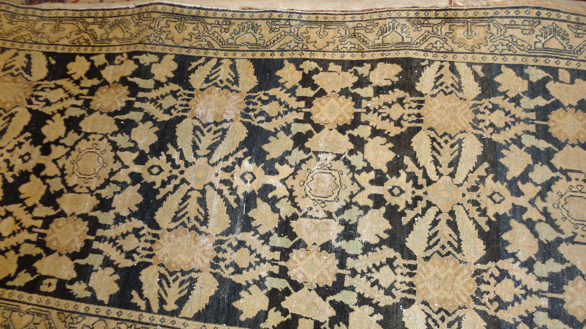 24848 antique persian malayer hall runner 3,8 x 14-1