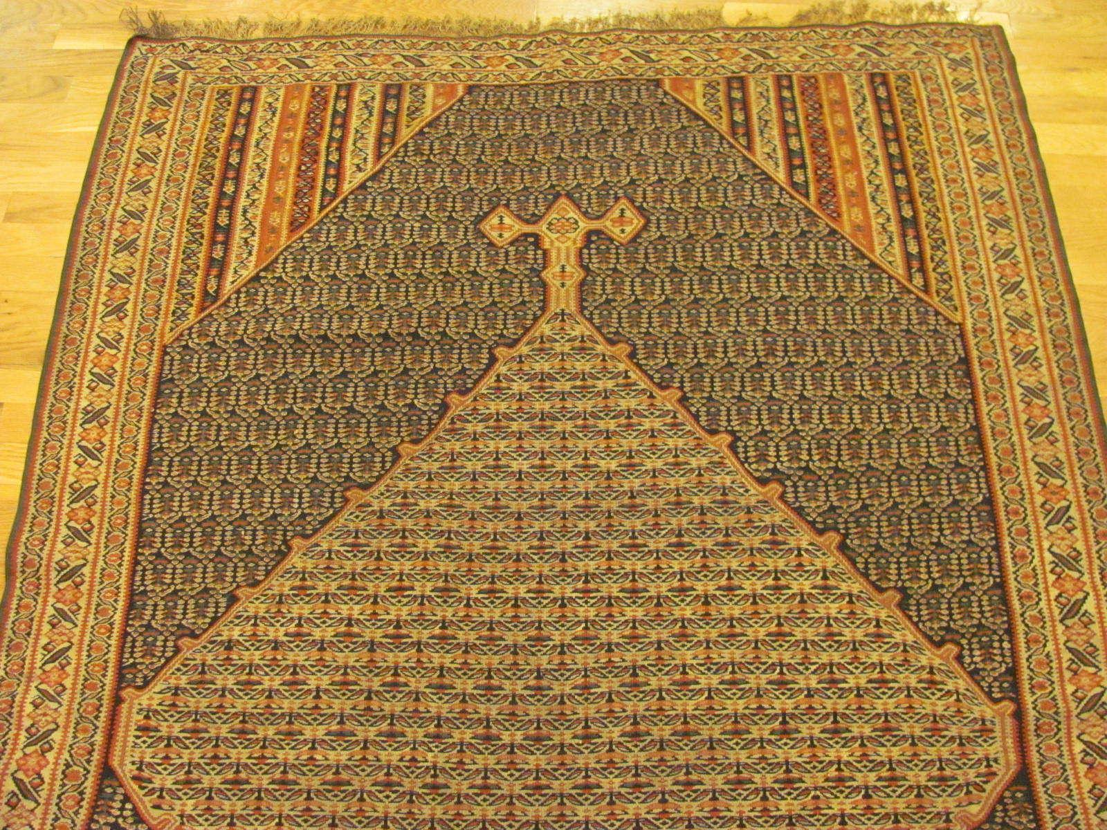 24874 antique persian senneh kilim rug 4,4x6,11-1
