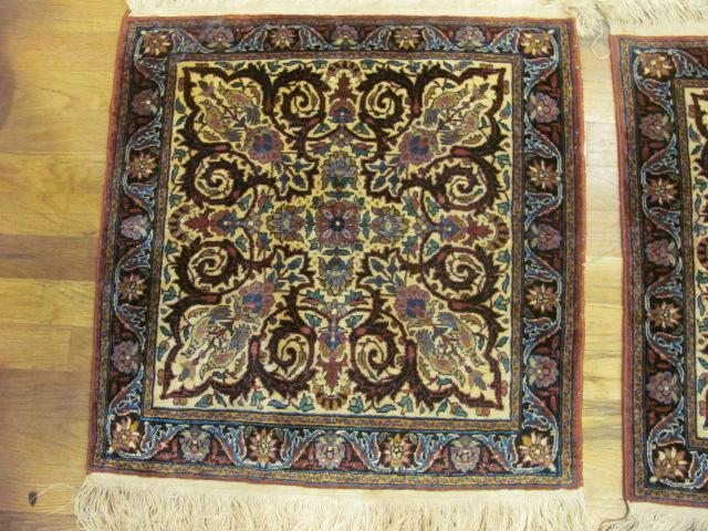 24922 Pair of India small rugs each 2 x 2 -2