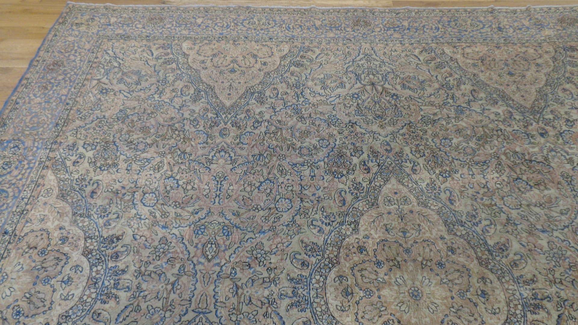24925 Antique Persian Kirman rug 10,10 x 19 -1