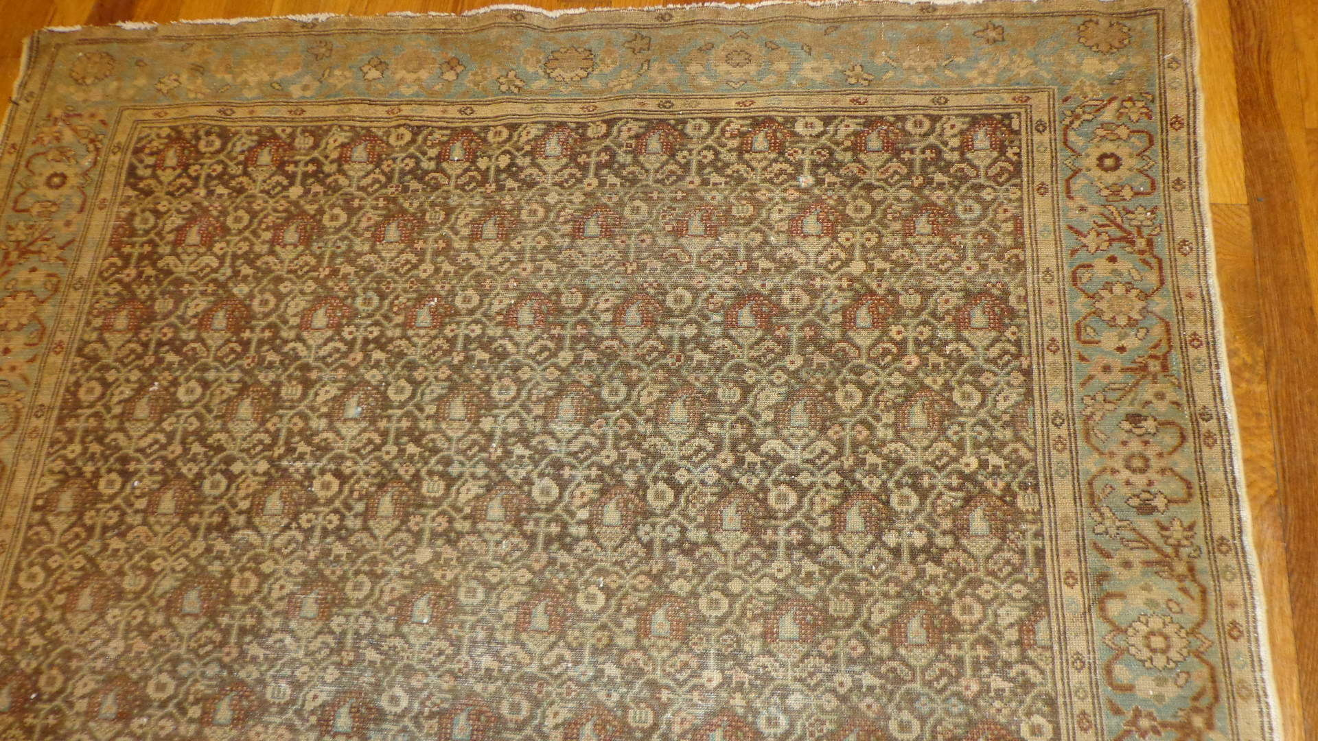 24610 antique Malayer Mishan rug 4 x 6 -