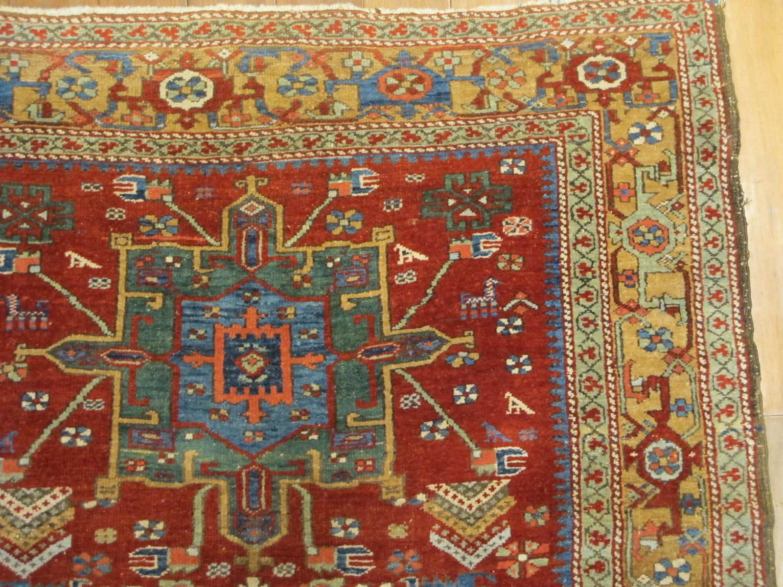 23672 antique persian serapi karadja rug 4,8x7,0 (2)