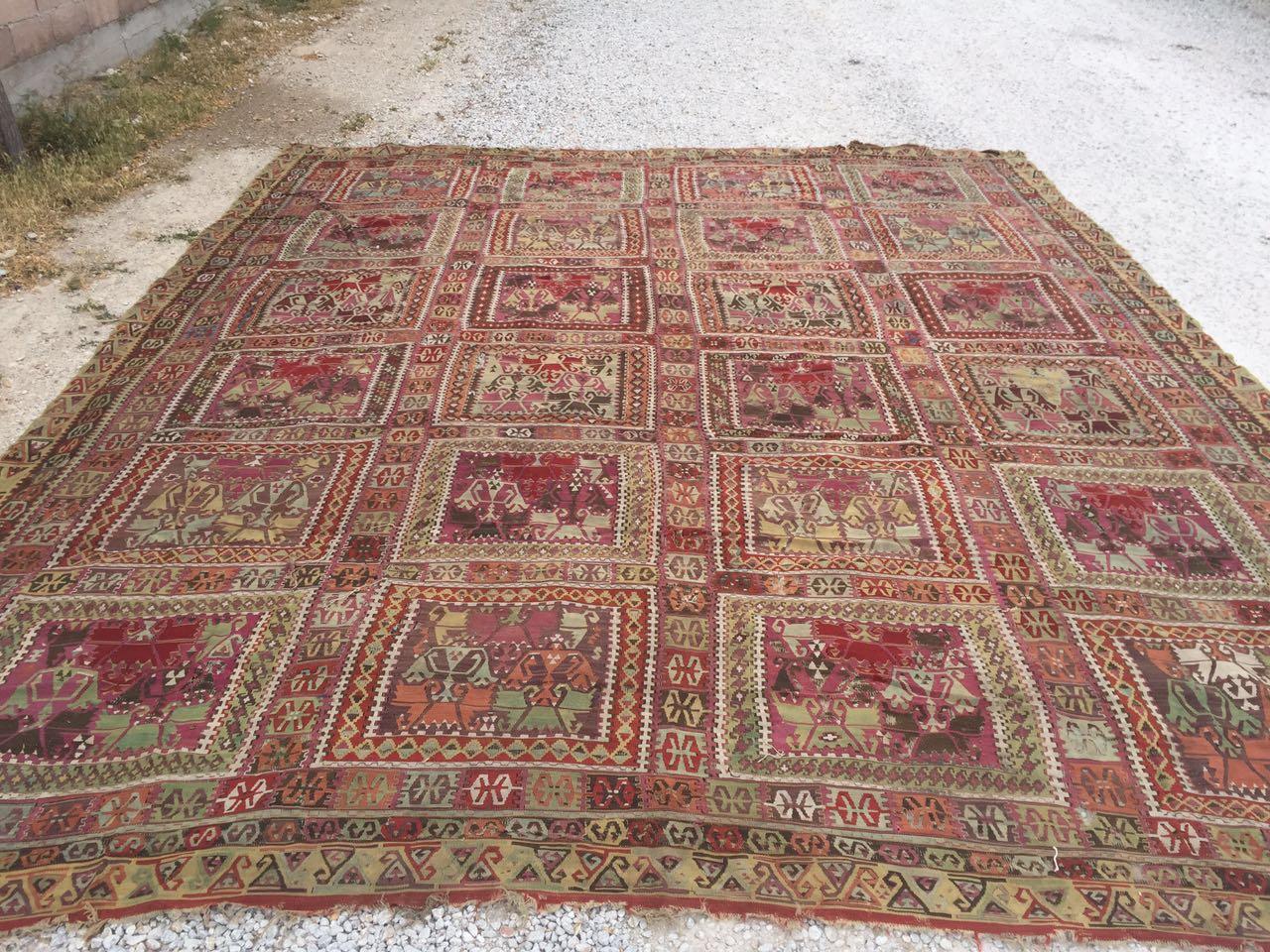 13125 Antique Anatolian kilim rug (1)