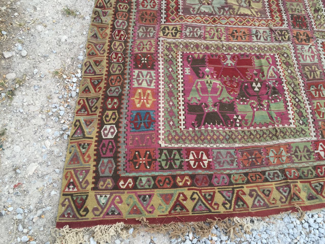 13125 Antique Anatolian kilim rug (5)