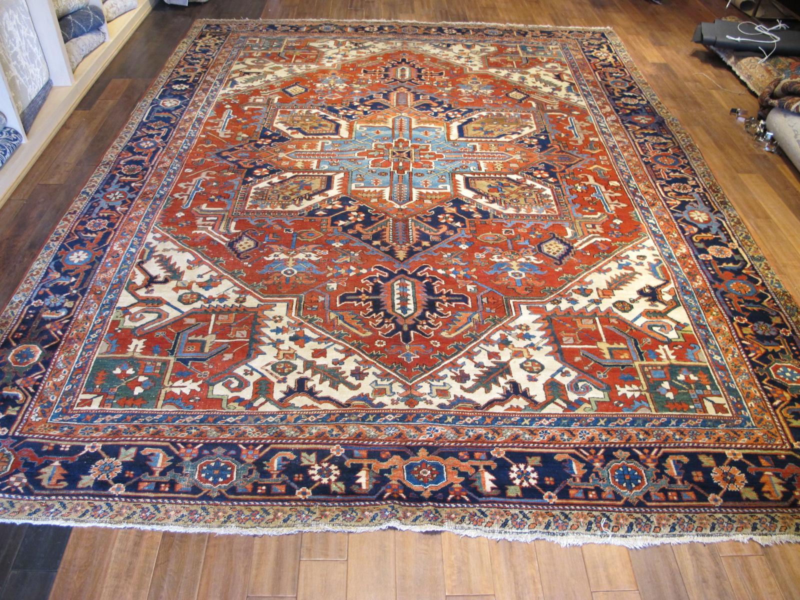23680 Persian Heriz rug 10 x 13 (1)