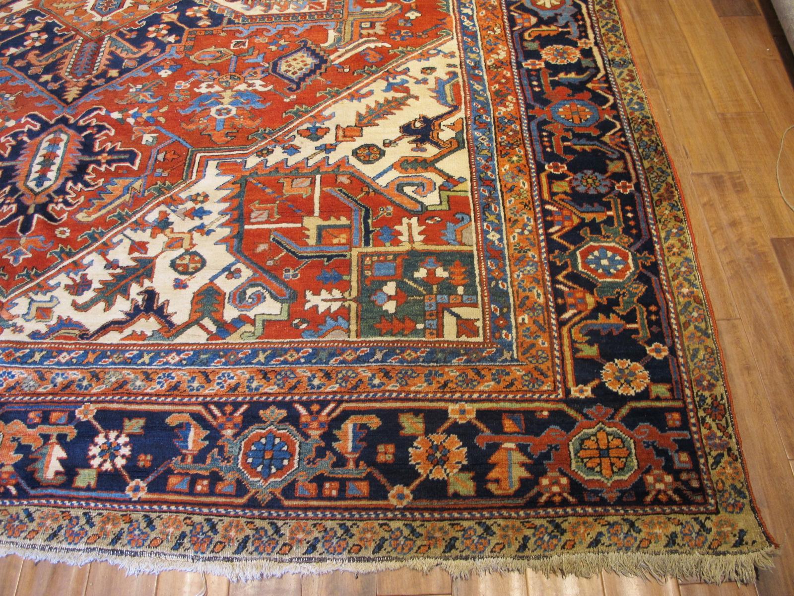 23680 Persian Heriz rug 10 x 13 (2)