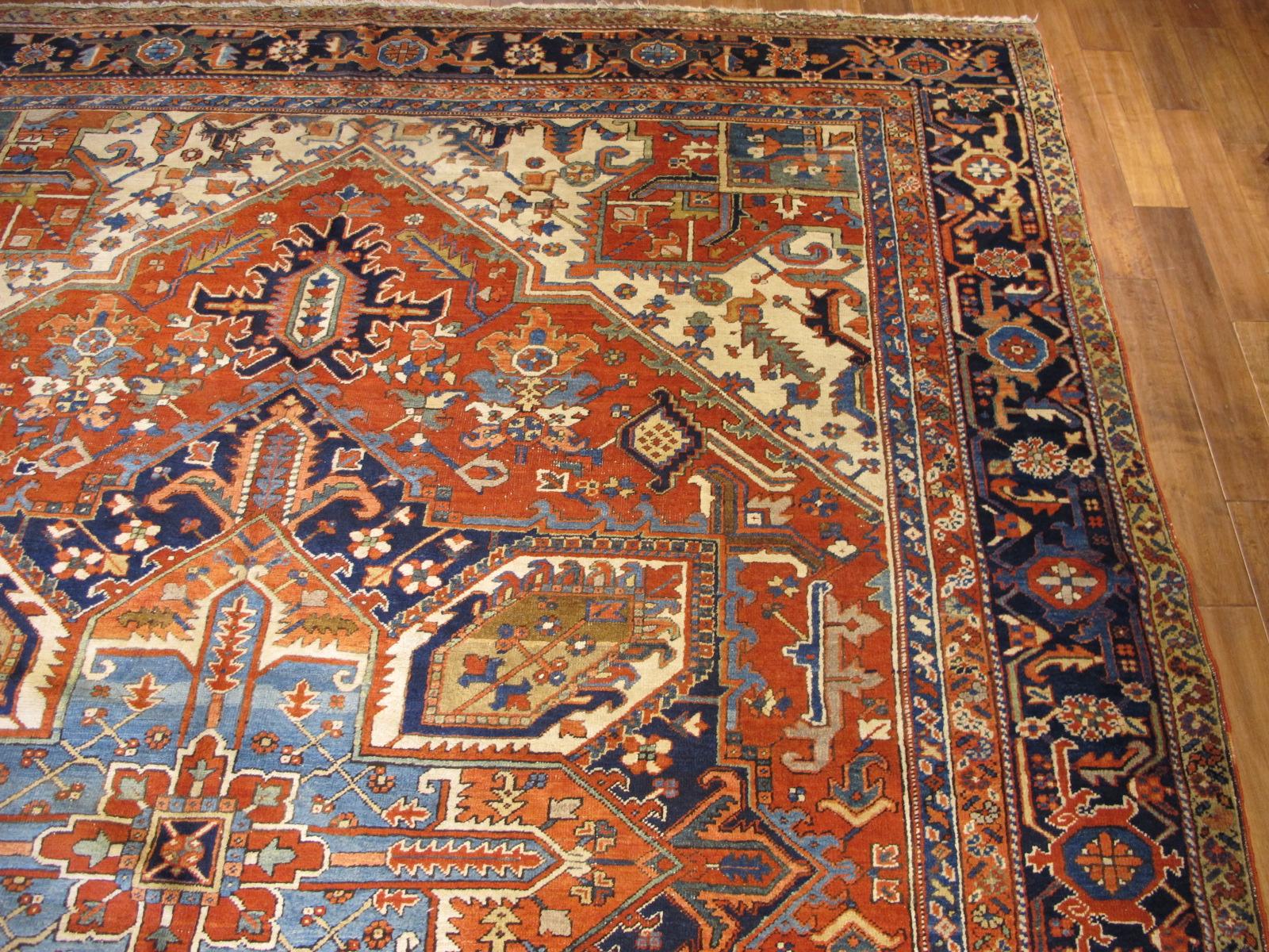 23680 Persian Heriz rug 10 x 13 (3)