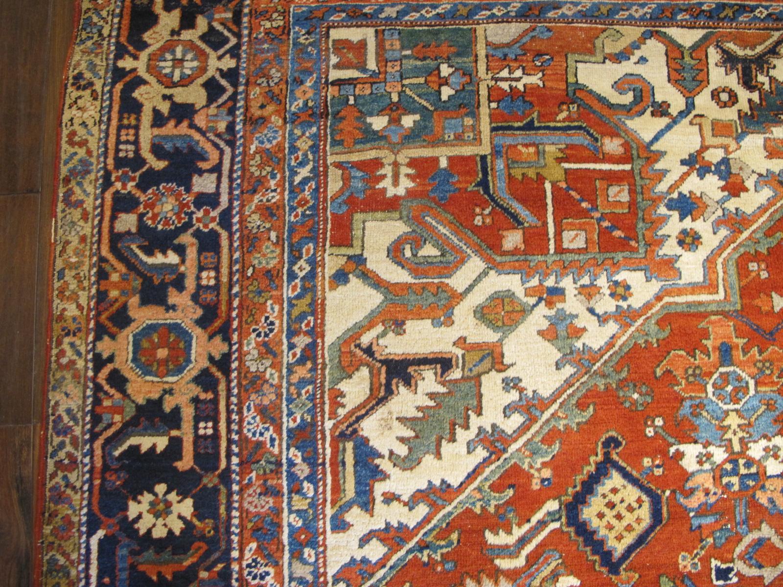 23680 Persian Heriz rug 10 x 13 (4)