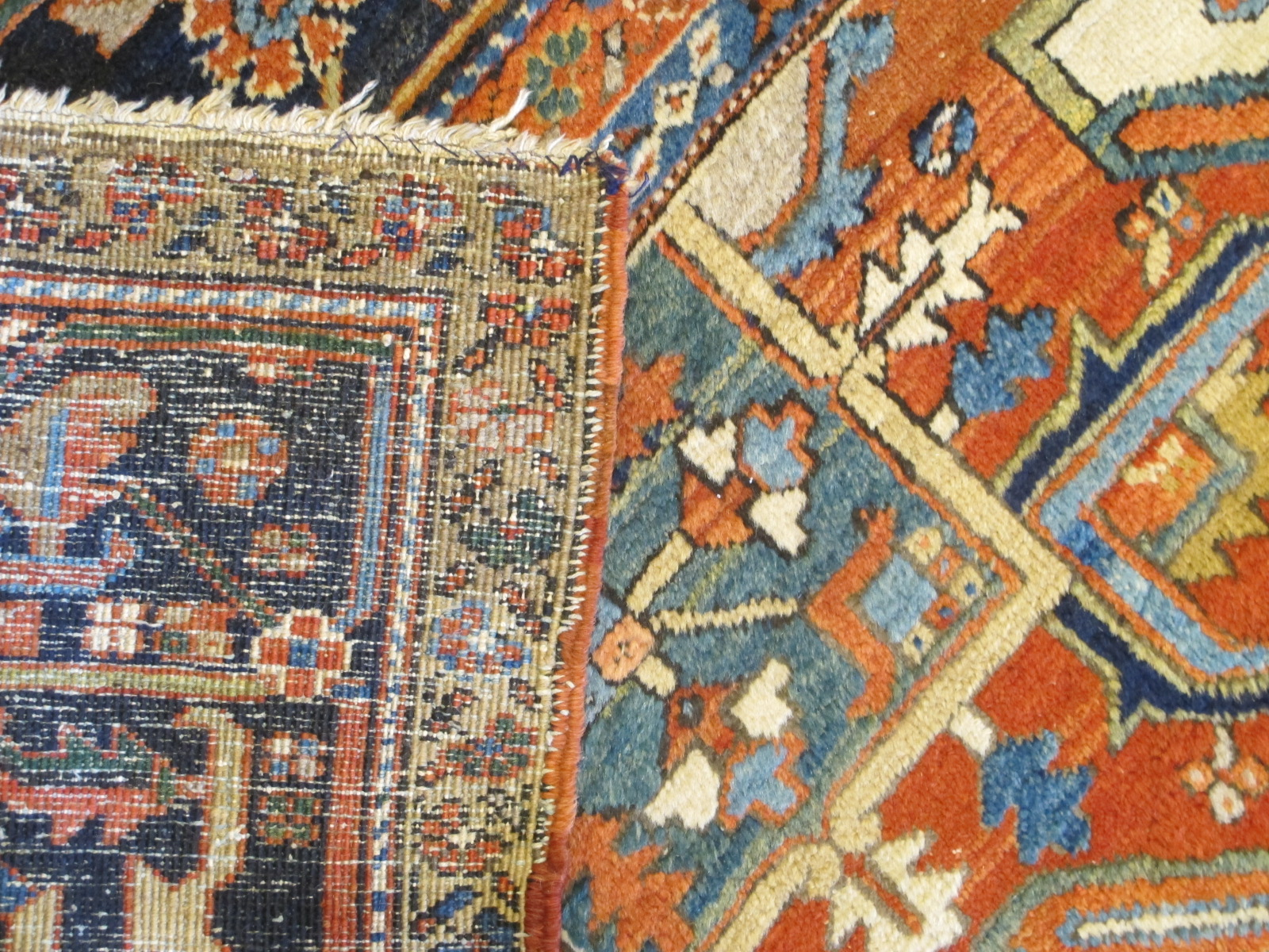 23680 Persian Heriz rug 10 x 13 (5)
