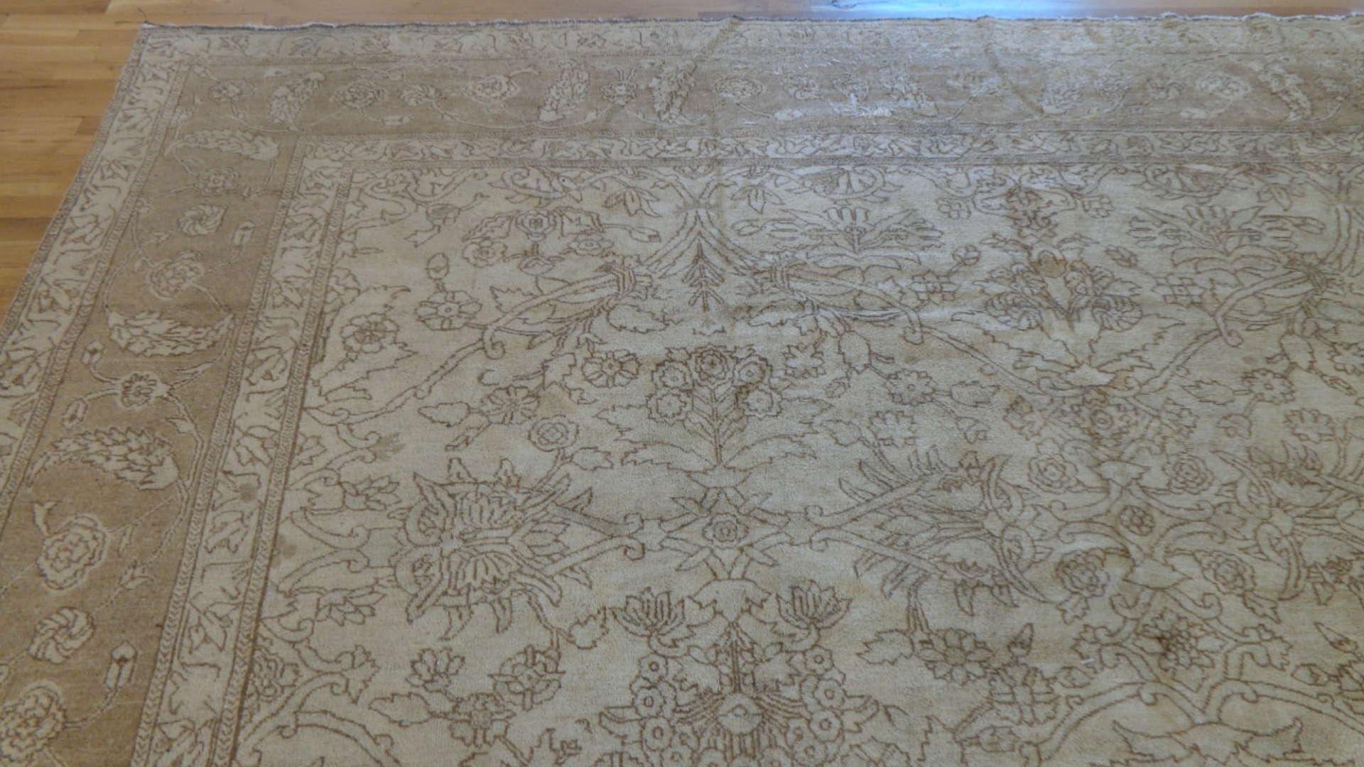 24769 Antique Indo Tabriz rug 11,5 x 14,2-1