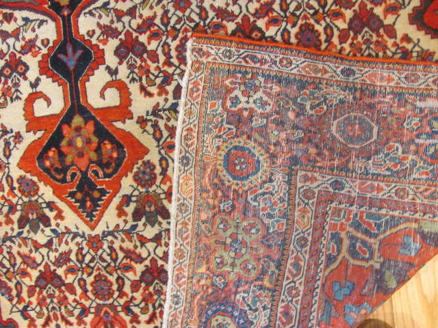 25104 antique persian sarouk fereghan rug 4 x 6,4-3